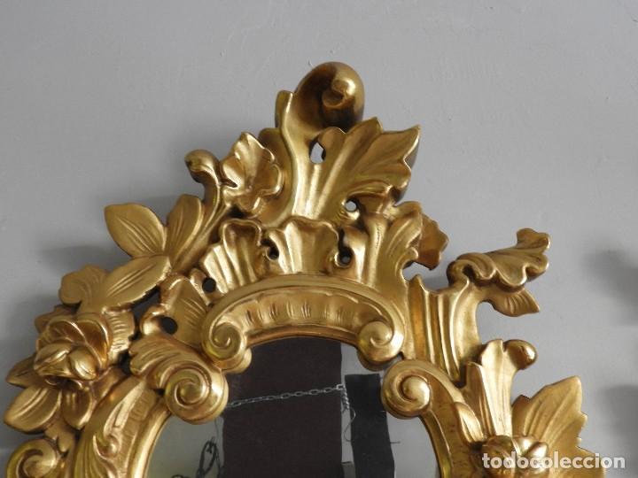 Antigüedades: FANTASTICAS CORNUCOPIAS ANTIGUAS S. XIX LUNA ORIGINAL - Foto 3 - 118270759