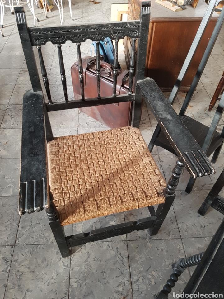 Antigüedades: LOTE DE MUEBLES DE RECIBIDOR, SILLON + BUTACAS + PEDESTALES - Foto 16 - 118289616