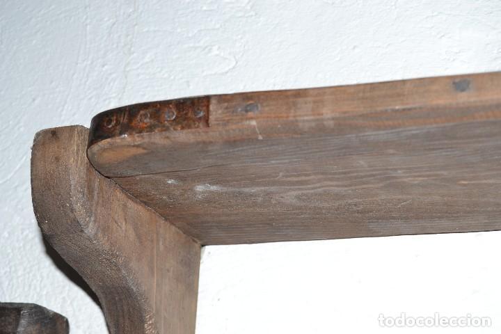 Antigüedades: REPISA DE MADERA RÚSTICA. - Foto 7 - 118325803