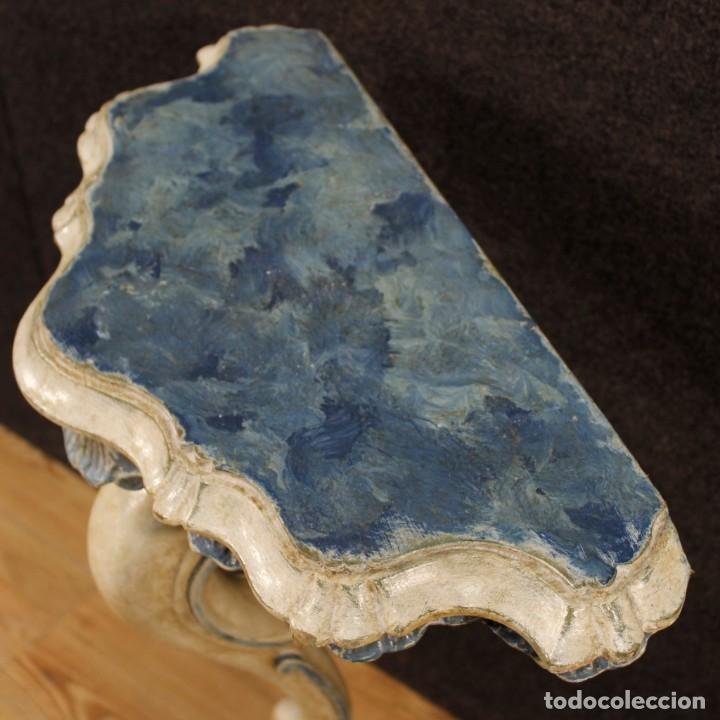 Antigüedades: Par de consolas venecianas lacadas y pintadas - Foto 8 - 118335663