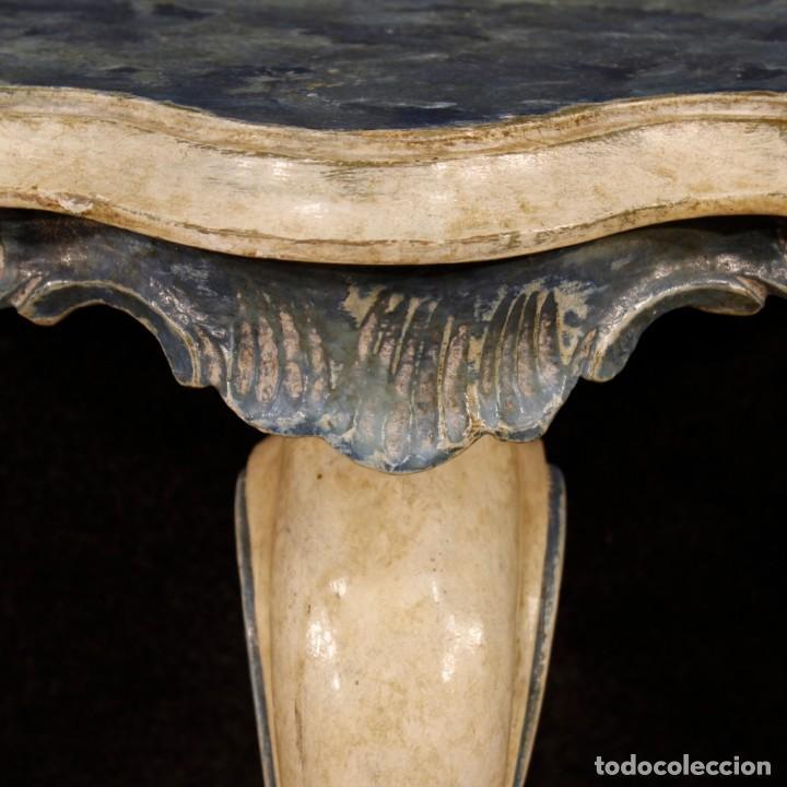 Antigüedades: Par de consolas venecianas lacadas y pintadas - Foto 11 - 118335663