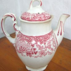 Antigüedades: GRAN CAFETERA ANTIGUA - LA CARTUJA DE SEVILLA PICKMAN - SERIE ROSA 202. Lote 118395251