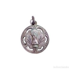 Antigüedades: MEDALLA RELIGIOSA. EN PLATA - RECUERDO DEL PILAR - 2,7 CM DE DIÁMETRO. Lote 118398511