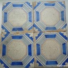 Antigüedades: CUATRO AZULEJOS VALENCIA SIGLO XIX.REFª13. Lote 118407020