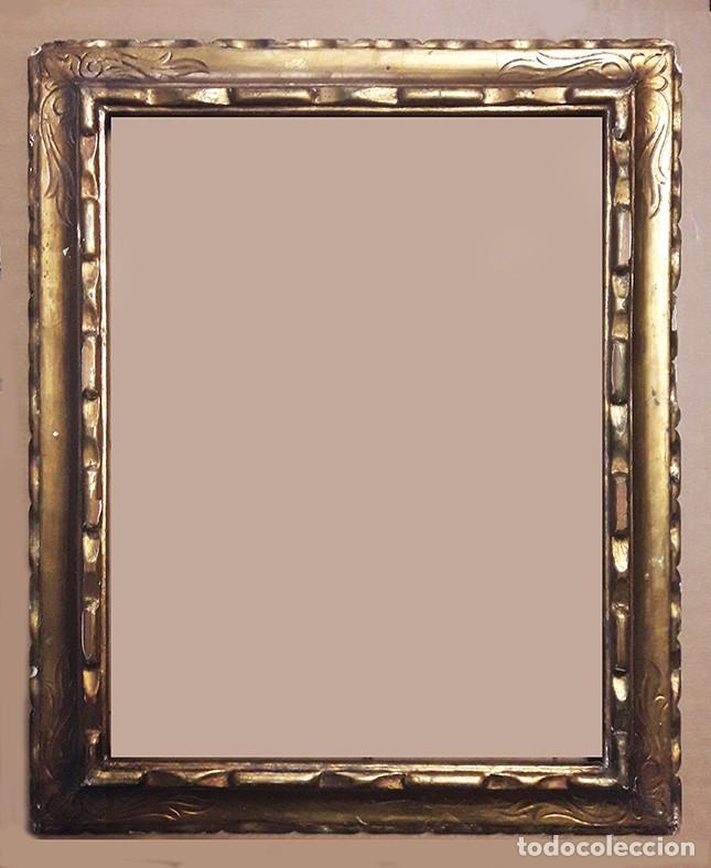 antiguo marco dorado en madera - Comprar Marcos Antiguos de Cuadros ...