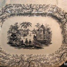 Antigüedades: BANDEJA DEL XIX PLANA CARTUJA DE SEVILLA. Lote 118481703