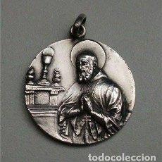 Antigüedades: ANTIGUA MEDALLA RELIGIOSA DE PLATA DE 800 MM.. Lote 118498971