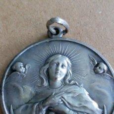 Antigüedades: MEDALLA DE PLATA DE LA INMACULADA CONCEPCIÓN. Lote 118504547