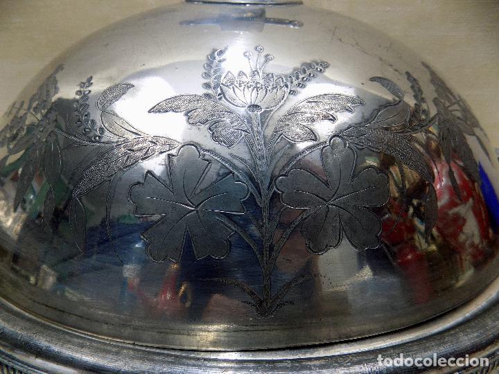 Antigüedades: PRECIOSA BANDEJA DE SERVIR SELLADA, MOTIVOS FLORALES , VER FOTOS Y DESCRIPCION - Foto 6 - 118530339