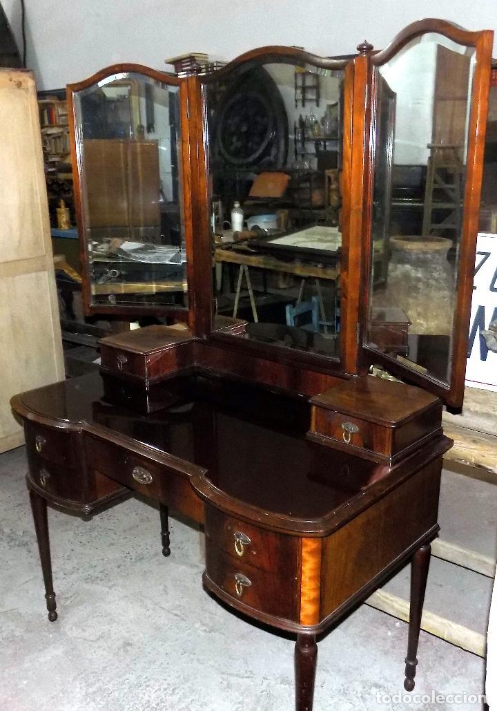bonito tocador antiguo, siete cajones ,espejo t - Comprar Muebles ...