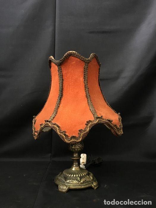 LÁMPARA DE MESA DE BRONCE VINTAGE - DECORACIÓN DE MESA (Antigüedades - Iluminación - Lámparas Antiguas)
