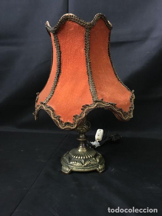 Antigüedades: Lámpara de mesa de bronce vintage - Decoración de mesa - Foto 2 - 118554983