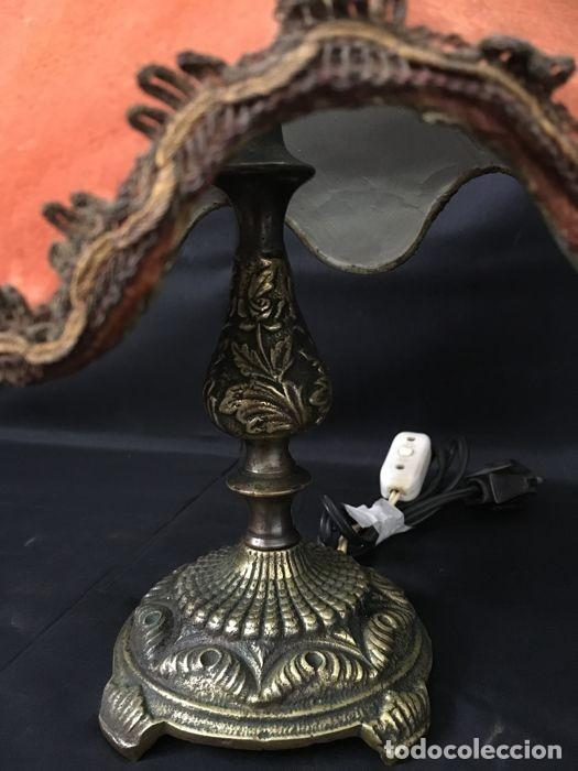 Antigüedades: Lámpara de mesa de bronce vintage - Decoración de mesa - Foto 4 - 118554983