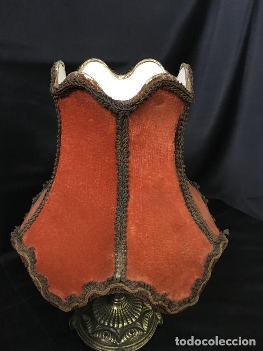 Antigüedades: Lámpara de mesa de bronce vintage - Decoración de mesa - Foto 6 - 118554983