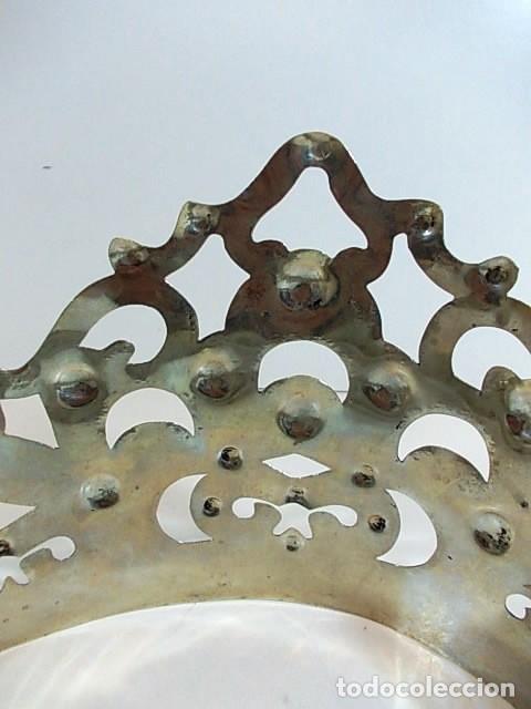 Antigüedades: Antigua corona para figura religiosa de gran tamaño - Foto 4 - 118571067