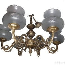 Antigüedades: LAMPARA BRONCE ANTIGUA. Lote 113342499
