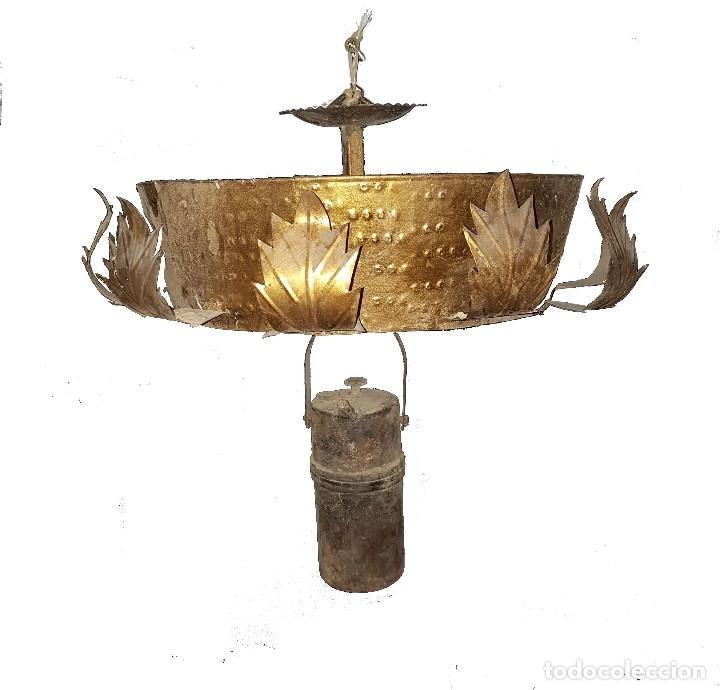 LAMPARA DE CARBURO Y LAMPARA DE LATÓN (Antigüedades - Varios)