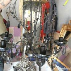 Antigüedades: ANTIGUA LAMPARA DE LOS AÑOS 50 DE 5 BRAZOS EN COLOR NEGRO NOCHE. Lote 118632611