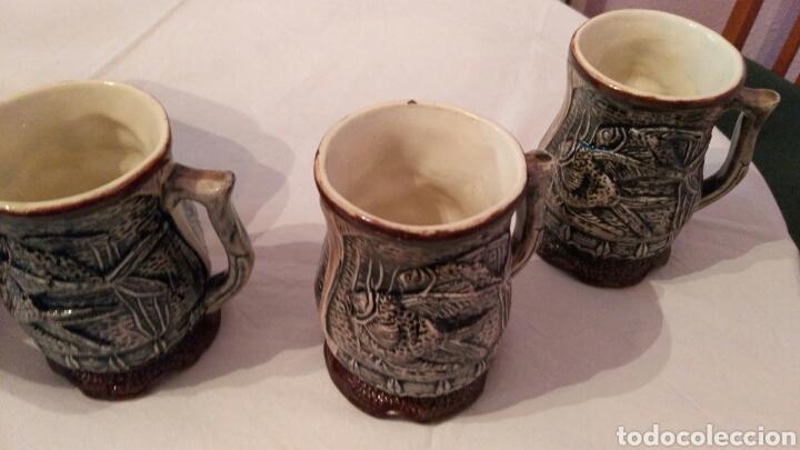 Antigüedades: IMPRESIONANTE JUEGO DE CERVEZA, CON ENORME JARRA, ACOMPAÑADA DE SUS SEIS JARRAS, VER, ÚNICO - Foto 3 - 118648483