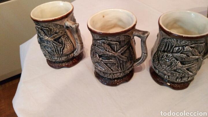 Antigüedades: IMPRESIONANTE JUEGO DE CERVEZA, CON ENORME JARRA, ACOMPAÑADA DE SUS SEIS JARRAS, VER, ÚNICO - Foto 4 - 118648483