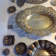 Antigüedades: 18 OBJETOS PLATA Y ALPACA. Lote 118649279