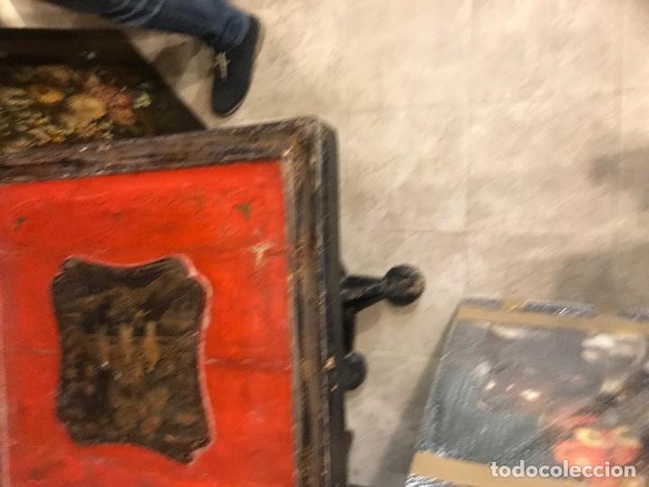 Antigüedades: preciosa mantonera con pie, s. xix, bien conservada - Foto 3 - 118657759