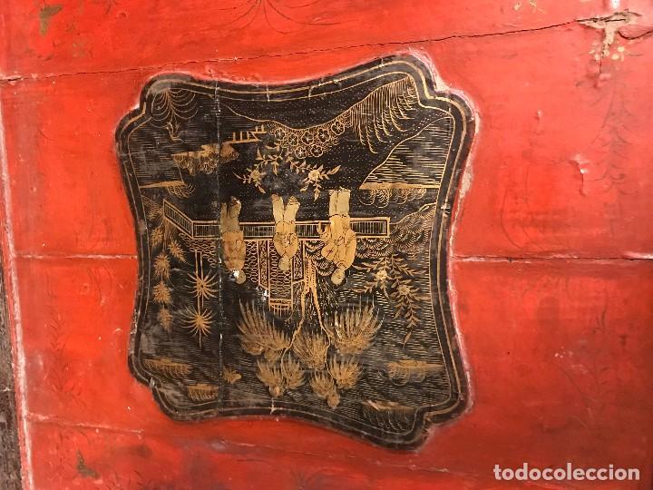 Antigüedades: preciosa mantonera con pie, s. xix, bien conservada - Foto 6 - 118657759