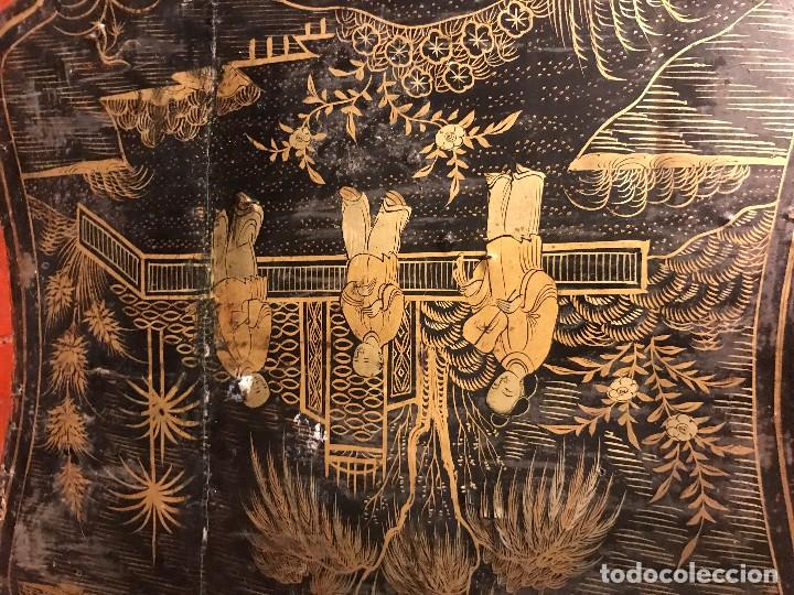Antigüedades: preciosa mantonera con pie, s. xix, bien conservada - Foto 8 - 118657759