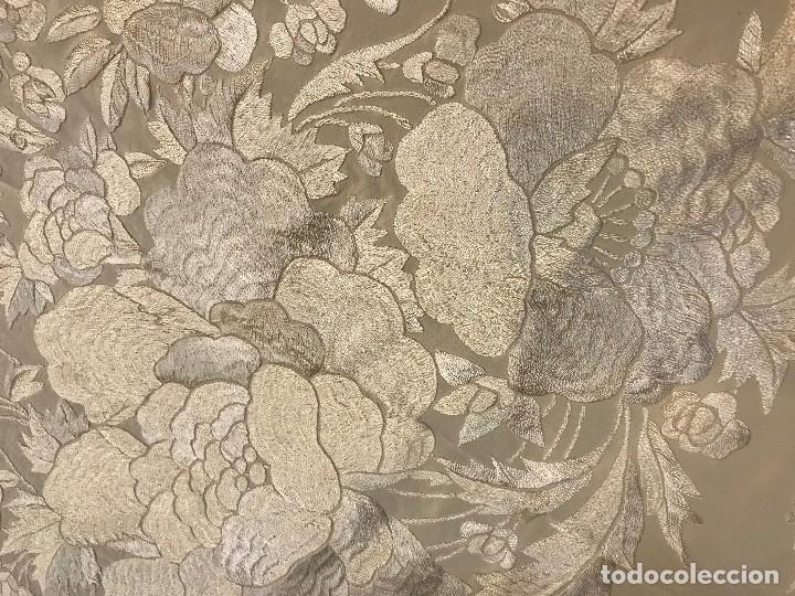 Antigüedades: espectacular manton de juan foronda, sevilla, bordado a mano - Foto 3 - 227072319