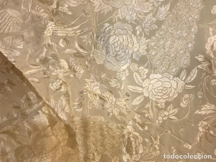 Antigüedades: espectacular manton de juan foronda, sevilla, bordado a mano - Foto 5 - 227072319