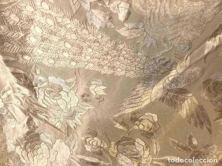 Antigüedades: espectacular manton de juan foronda, sevilla, bordado a mano - Foto 6 - 227072319