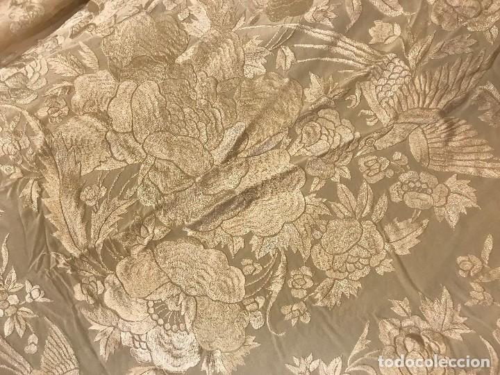 Antigüedades: espectacular manton de juan foronda, sevilla, bordado a mano - Foto 7 - 227072319