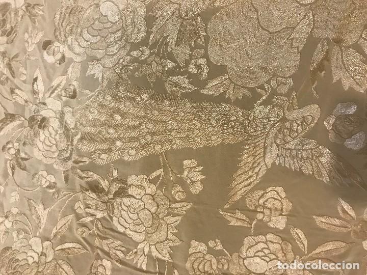 Antigüedades: espectacular manton de juan foronda, sevilla, bordado a mano - Foto 9 - 227072319