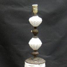 Antigüedades: GRAN LAMPARA PIE 131CM CERAMICA MANISES BRONCE Y MARMOL . Lote 118666015