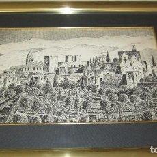 Antigüedades: ALHAMBRA DE GRANADA A PLUMILLA. Lote 118668303