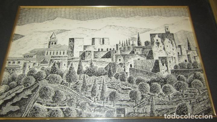 Antigüedades: ALHAMBRA DE GRANADA A PLUMILLA - Foto 2 - 118668303
