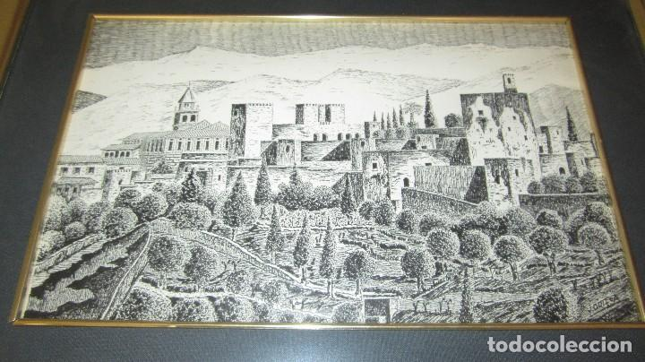 Antigüedades: ALHAMBRA DE GRANADA A PLUMILLA - Foto 4 - 118668303