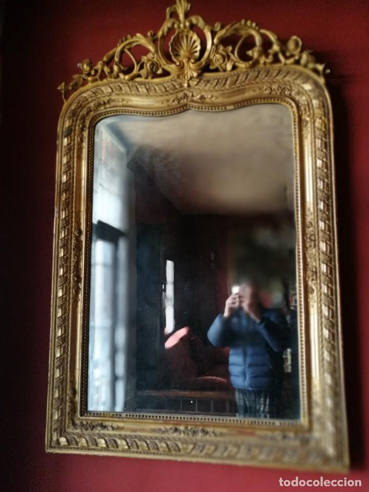 Antigüedades: Consola con espejo dorado - Foto 3 - 118675483