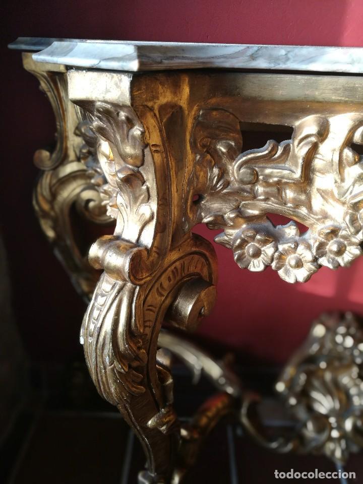 Antigüedades: Consola con espejo dorado - Foto 4 - 118675483