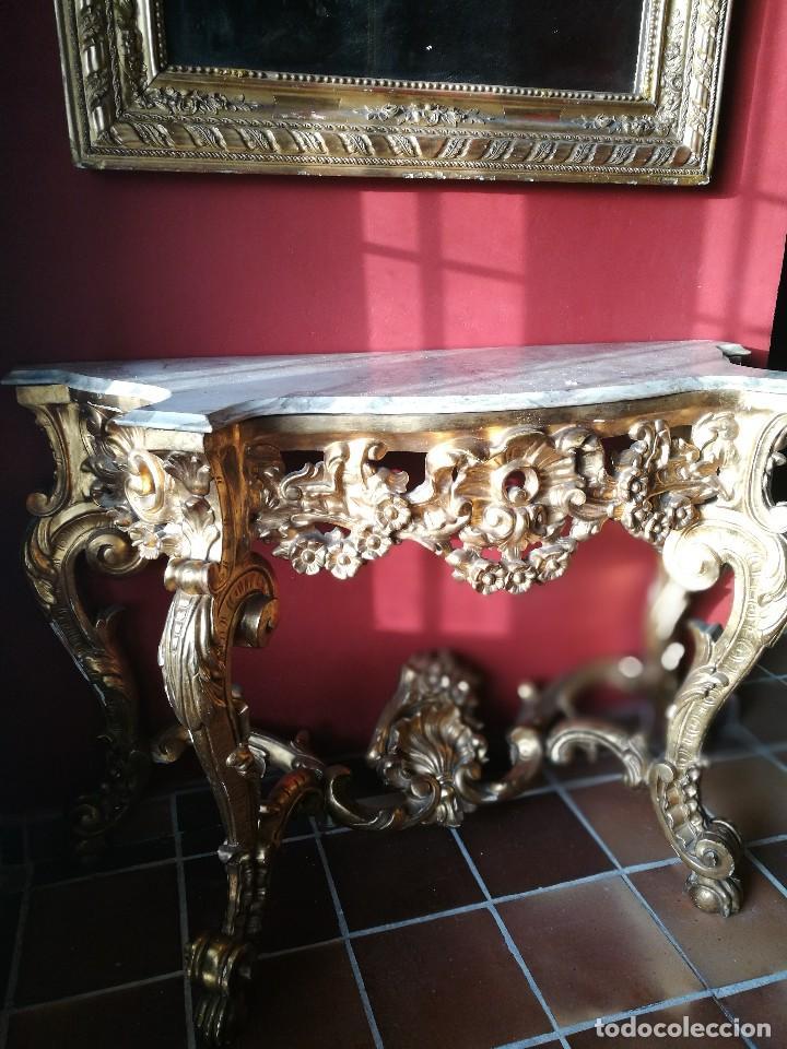 Antigüedades: Consola con espejo dorado - Foto 8 - 118675483