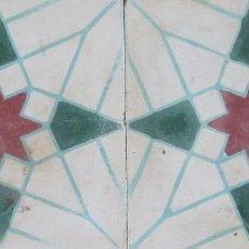 Antigüedades: 2 BALDOSAS HIDRAULICAS. Lote 118691983