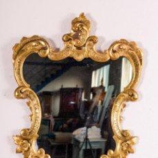Antigüedades: ESPEJO ANTIGUO EN PAN DE ORO. Lote 118697383