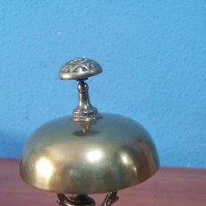 Antigüedades: ANTIGUO TIMBRE DE HOTEL EN BRONCE FUNCIONAL. Lote 118710367
