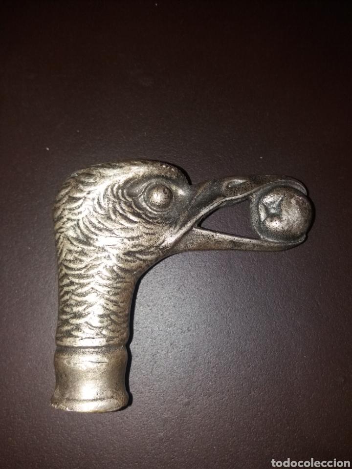 Antigüedades: Cabeza de bastón con cabeza de pájaro. - Foto 2 - 118714244