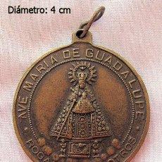 Antigüedades: MEDALLA BRONCE SANTA TERESA VIRGEN DE GUADALUPE. Lote 118725607