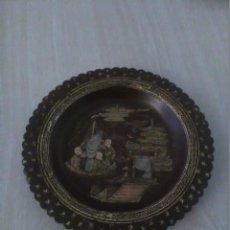 Antigüedades: PLATO PAPEL MACHÉ LACADO SIGLO XIX . Lote 118725643