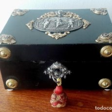 Antigüedades: CAJA FRANCESA ESTILO NAPOLEON III. SIGLO XIX. Lote 118738379