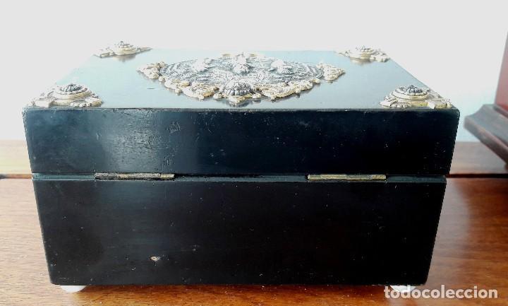 Antigüedades: Caja francesa estilo Napoleon III. Siglo XIX - Foto 4 - 118738379