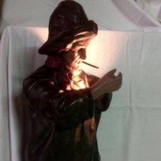 Antigüedades: MUY ANTIGUA LAMPARA -ESCULTURA MODERNISTA , ORIGINAL DE 1900. Lote 118739703