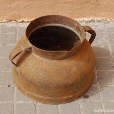 Antigüedades: TARRO ANTIGUO DE ORDEÑO DE CHAPA . Lote 118753655